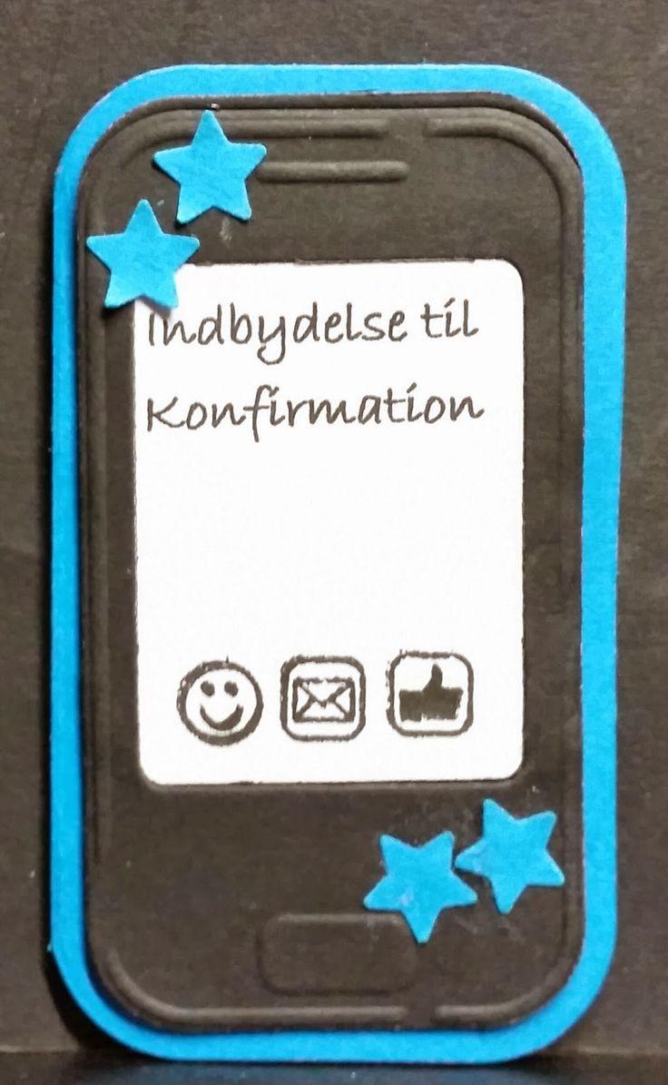 kortblogger: Konfirmations indbydelse.