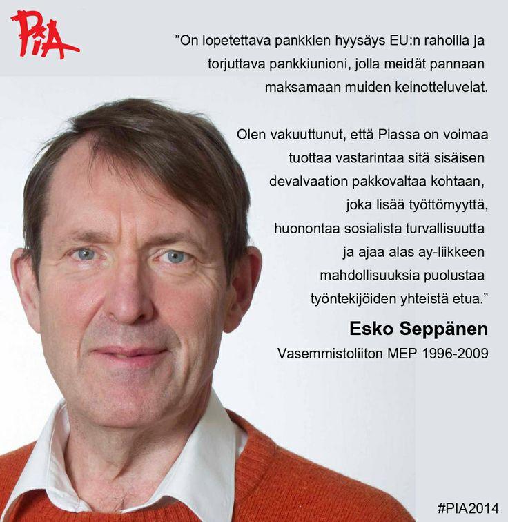 Esko Seppänen, emeritus #MEP suosittelee. #Eurovaalit.