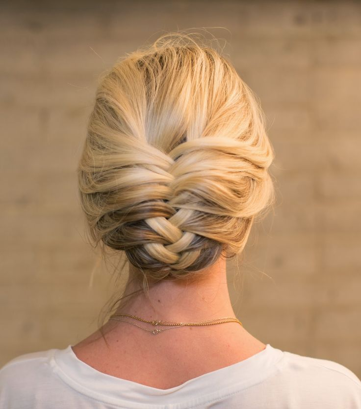 Retro Fishtail Braid Updo Hairstyle