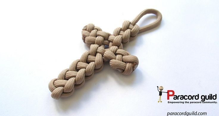 A tutorial on the Vertical crown knot paracord cross.