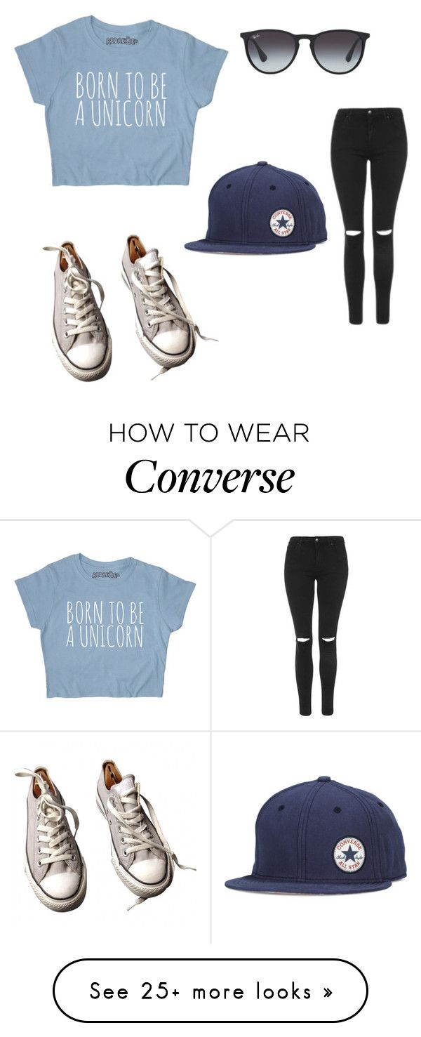 """Converse: Fresh talent commercial"" by lilyrosegold on Polyvore featuring Ray-Ban, Topshop and Converse"