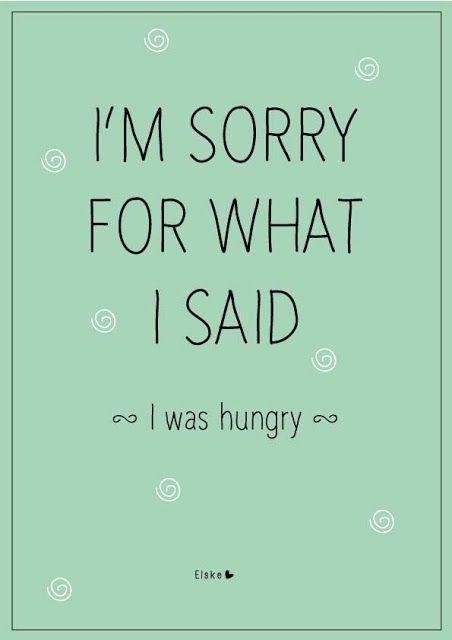 Szybko coś zjedz, żeby głód nie mówił za Ciebie :-)