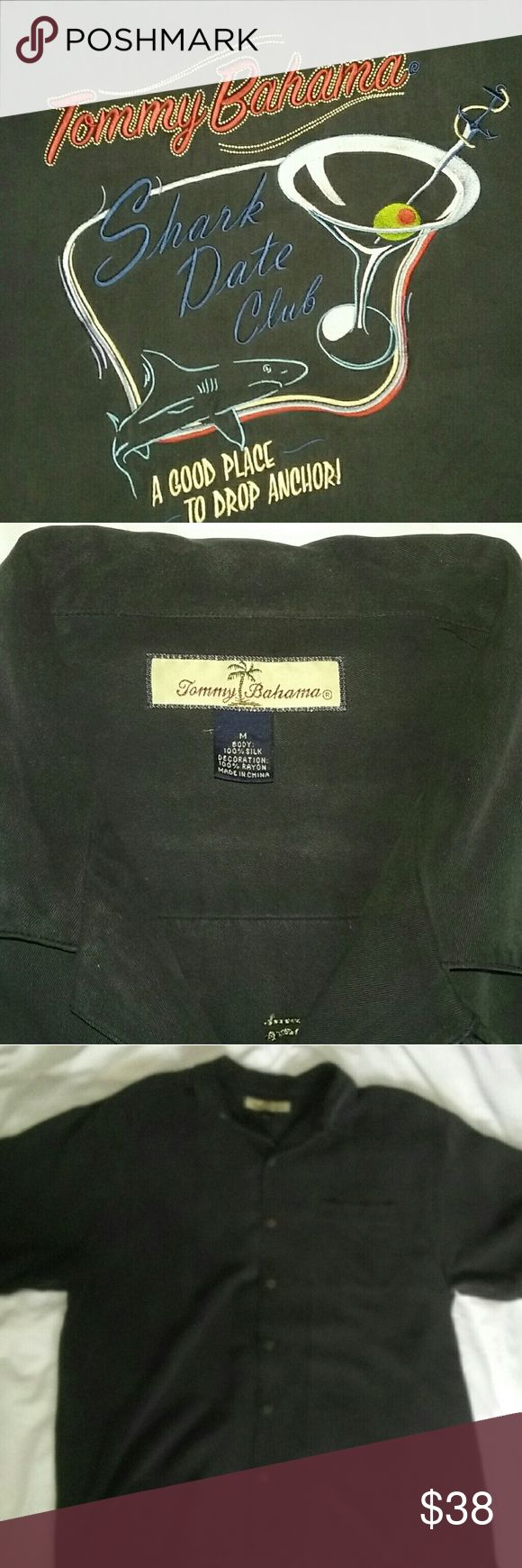 Tommy Bahama Black Silk Shirt 100% Silk Size: Medium  Make me an offer! I will negotiate on EVERYTHING in my closet. Tommy Bahama Shirts Casual Button Down Shirts