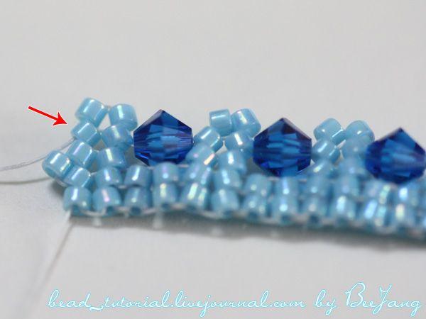 Herringbone Bracelet with inclusions  ~ Seed Bead Tutorials