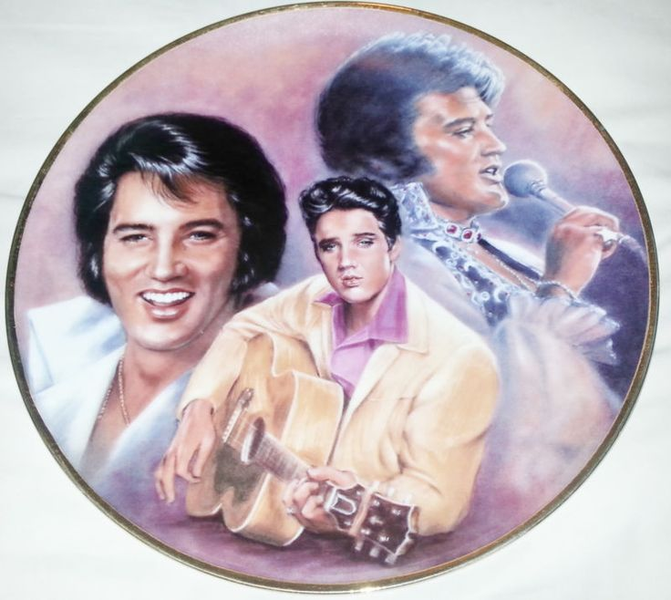 "Hotel Collection Plates: ""Elvis Remembered Series"" Limited Edition"