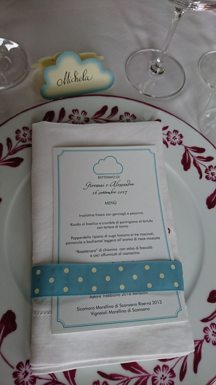 The perfect personalised place setting with menu and handwritten place card