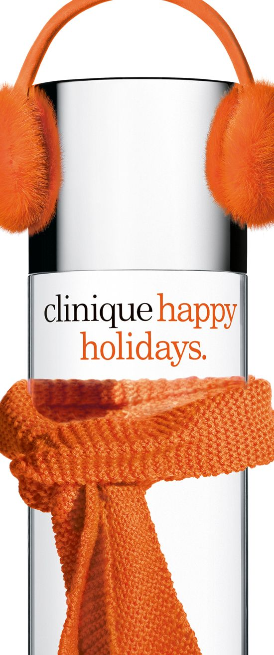 Happy Holidays from Clinique. | Orange is the happiest