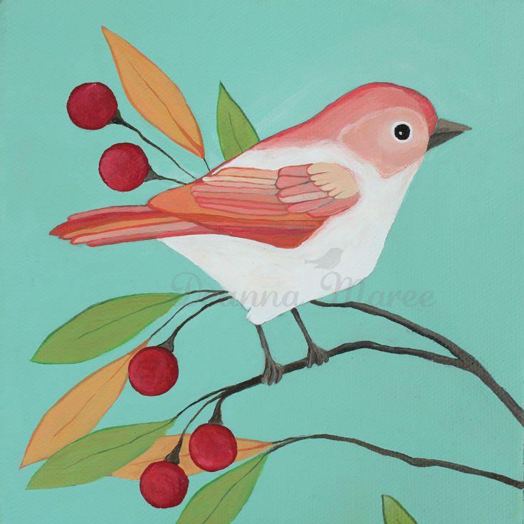 simple bird painting - Google Search | BIRDS, BUTTERFLIES ...