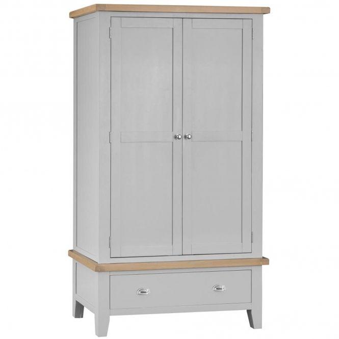 Bisbee Grey 2 Door 2 Drawer Wardrobe With Images Double Wardrobe 2 Door Wardrobe Contemporary House Design