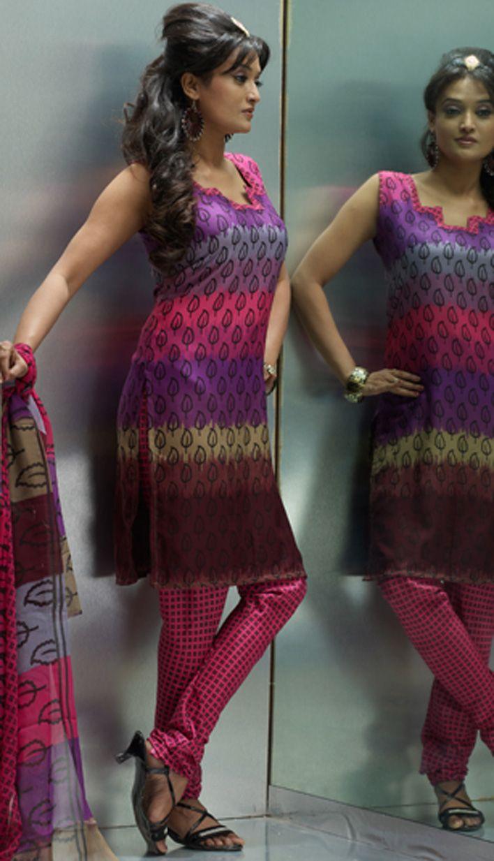 Get online Pink Crepe Churidar #PrintedSuit Product code: KPS-17718 Price: INR 1082 (Unstitch Suit), Color: Pink Shop Online now: http://www.efello.co/salwar-kameez_Pink-Crepe-Churidar-Printed-Suit_18354