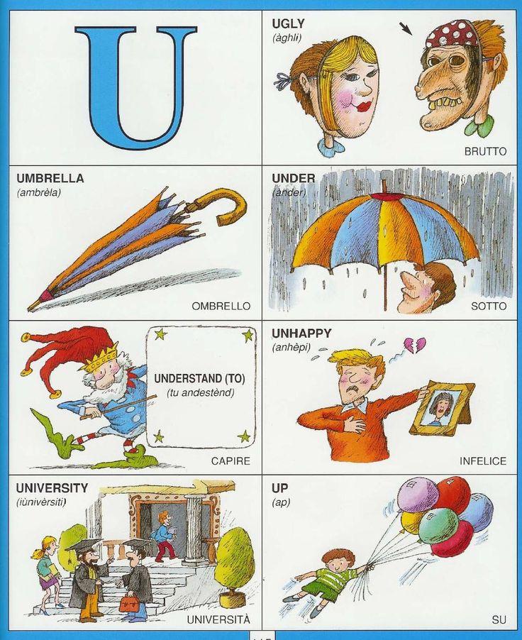 Learning Italian Language ~  Parole Inglesi Per Piccoli e Grandi - #Illustrated #dictionary - U1