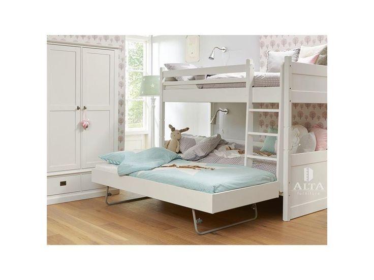 alta furniture etagenbett mit gerader leiter und gstebett snow white 90x200cm alta furniture jetzt bestellen unter - Etagenbetten Fr Teenager Jungen