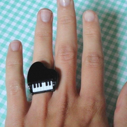 Piano Ring by RingsOfSaturn on Etsy, $5.00