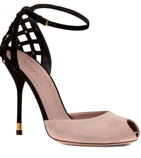 Classy suede peep-toe.  Gucci Beautifuls.com Members VIP Fashion Club 40-80% Off Luxury Fashion Brands