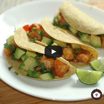 Receta ideal para esta cuaresma, fácil y rápida. Tacos de camarón enchipotlados.