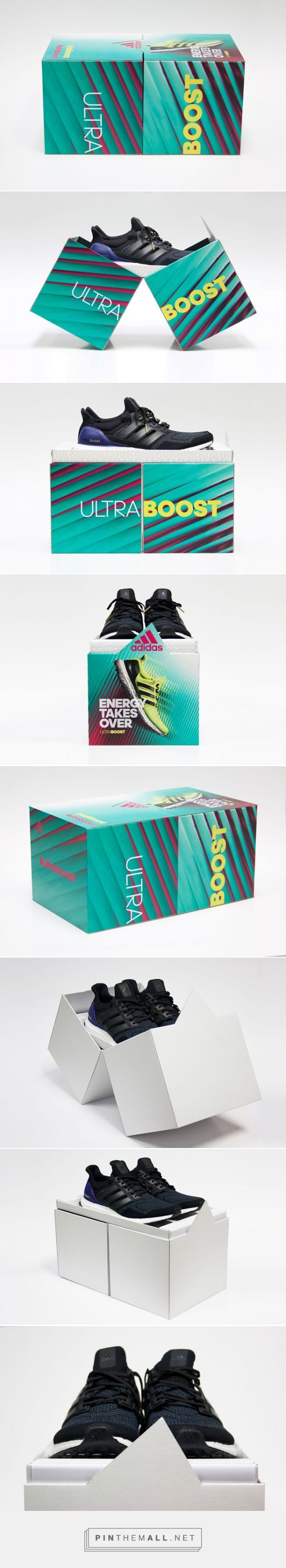 adidas - Ultra Boost soccer boots packaging designed by THINK Packaging - http://www.packagingoftheworld.com/2015/12/adidas-ultra-boost.html