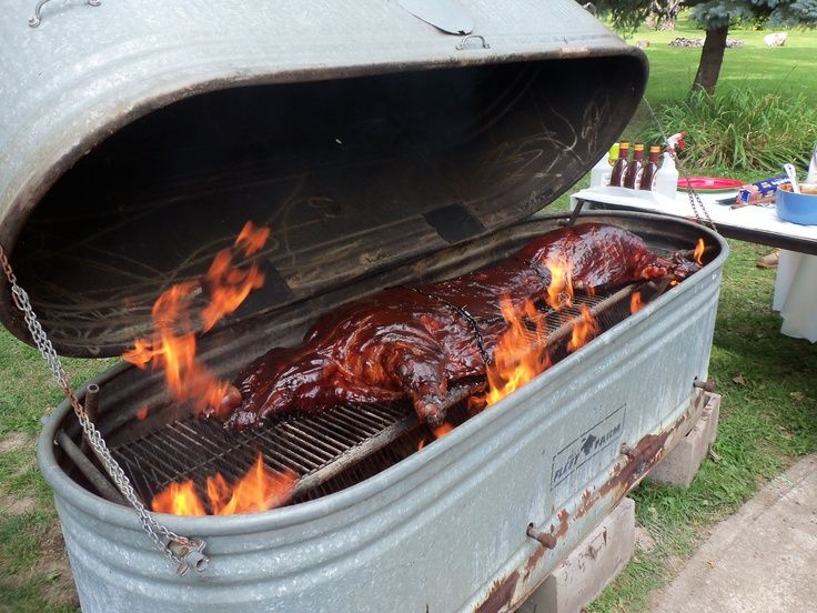 bbq pitts on Pinterest | Smokers, Trailers and Outdoor Kitchens
