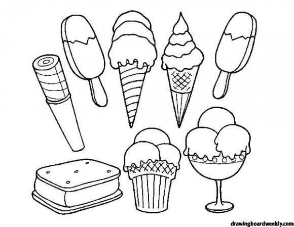 Ice Cream Coloring Pages Proteinicecream Ice Cream Coloring