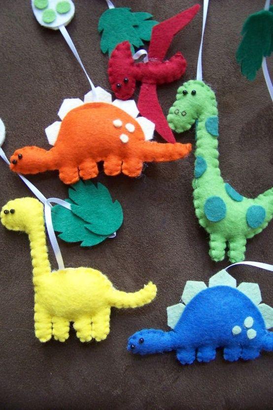..................... my felt friends ......................: Dino-might!
