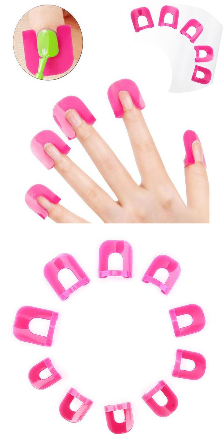 [Visit to Buy] Newest 26pcs/lot Creative Nail Polish Spill-Resistant Manicure Finger Cover Nail Polish Molds Shield Speicial Nail Art Tool #Advertisement