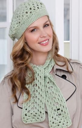 First Beret & Scarf - If you know how to do chains and double crochets you can crochet this easy scarf and beret. Use this pattern to teach others to crochet or for making quick gifts that will be loved. free pdf