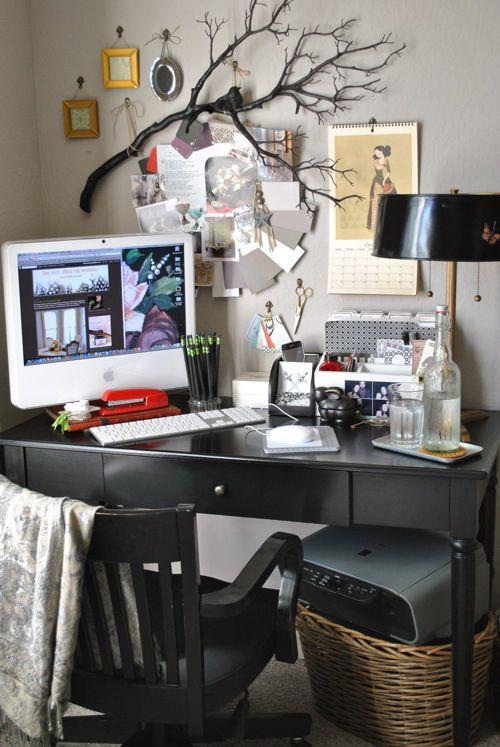 cute desk area!