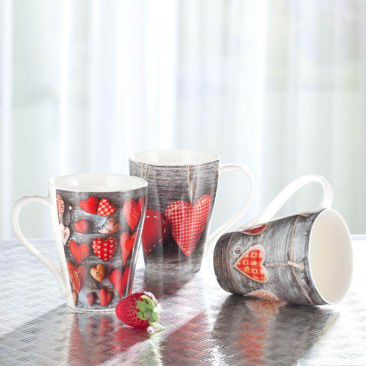 Kubek Hearts I 350ml, 350ml - Dekoria  #love #milosc #dekoracje #prezenty #gift #celebration #ideas