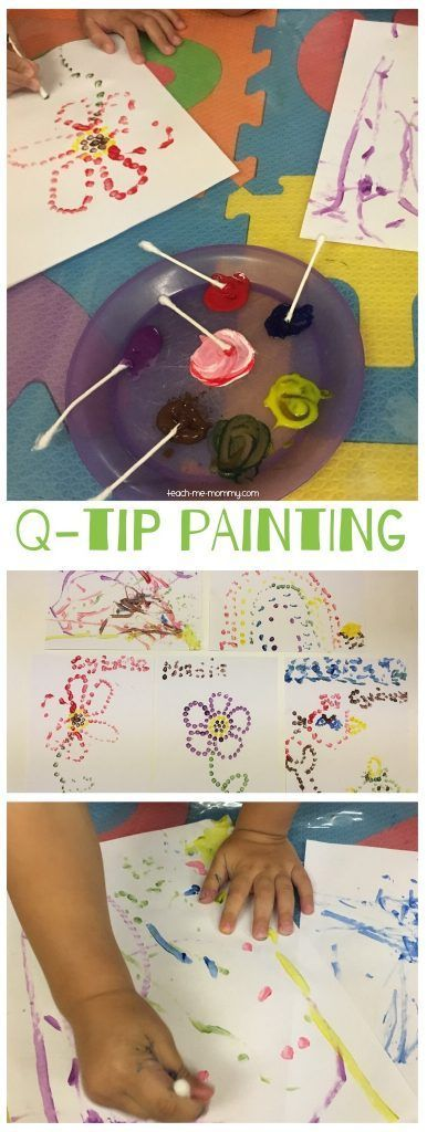 Q-tip Painting, low prep painting activity for all ages!