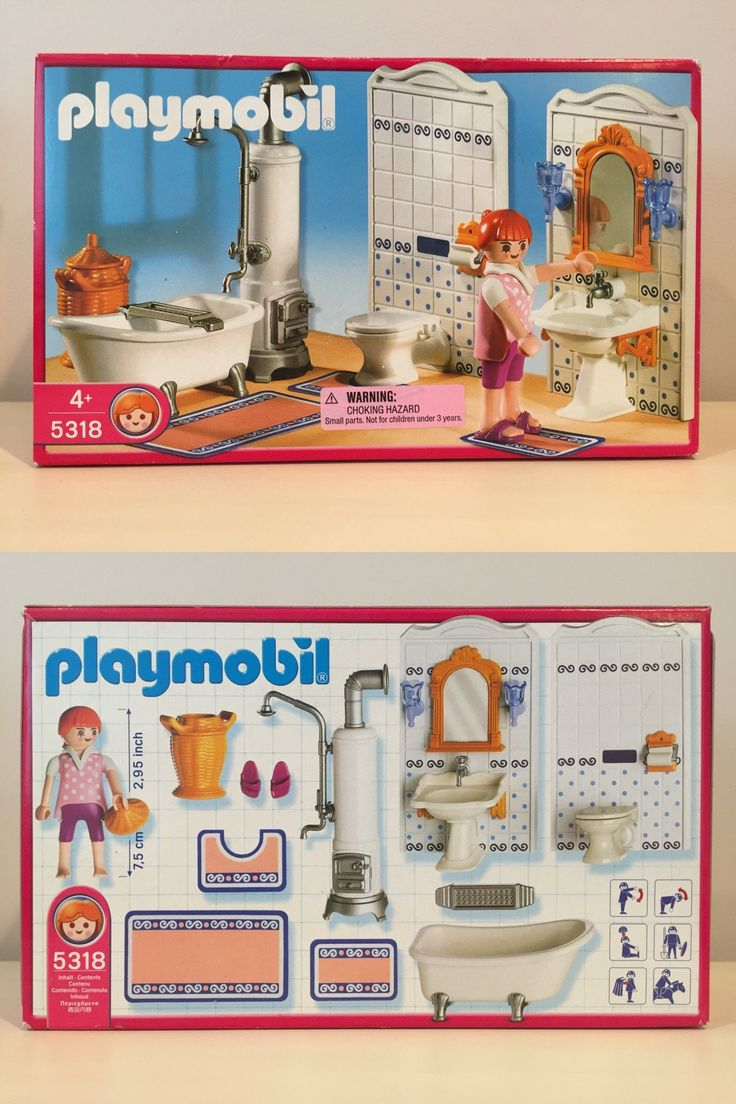 Playmobil 19854: Playmobil 5318 Bathroom Furniture For Dollhouse Grand  Mansion Victorian New Nib  U003e