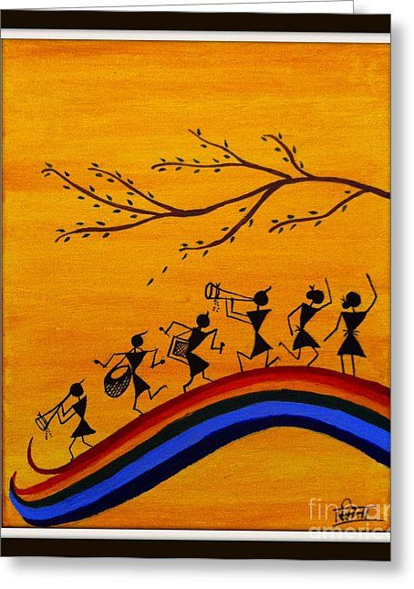 Warli Greeting Card by Smita Sumant