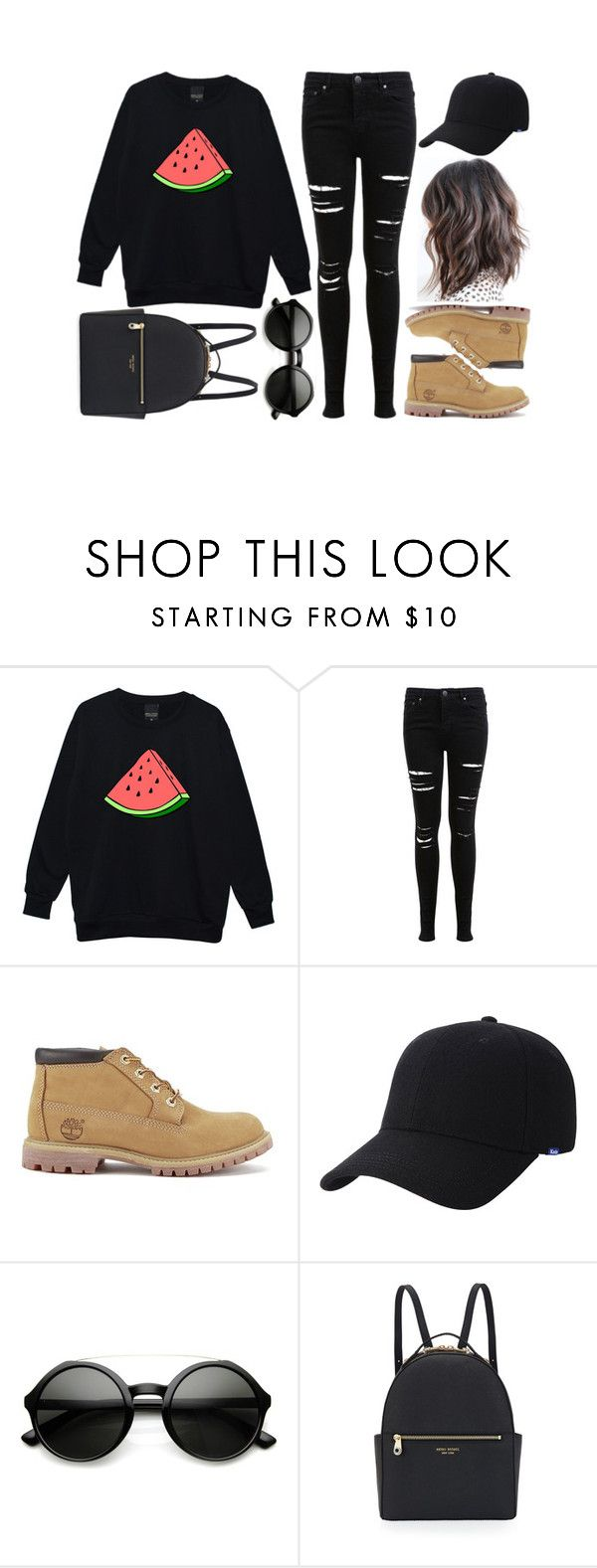 """Untitled #776"" by kendalcanswim ❤ liked on Polyvore featuring Miss Selfridge, Timberland, Keds and Henri Bendel"