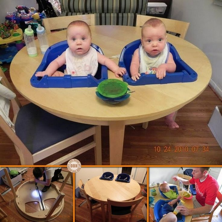 DIY Twin High Chair... for if we ever have twinners