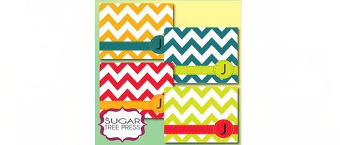 $8.00 Customizable Chevron Cards Set of 12: Cards Sets, Note Cards, Chevron Cards