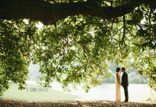 Werribee Mansion wedding under the tree