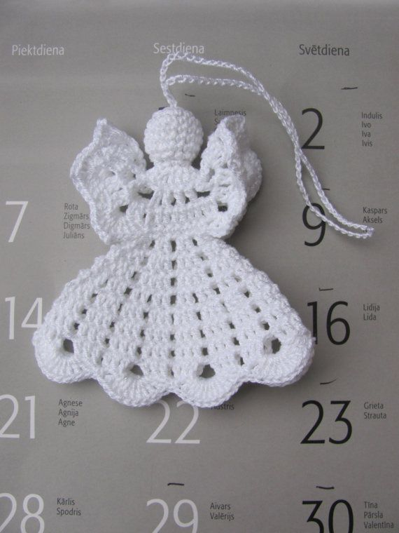 Crochet angel Christmas ornament Home decor A16 by InKasTrifles