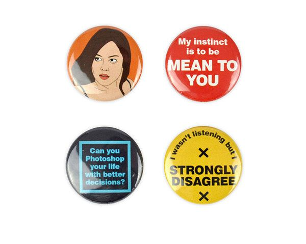 April Ludgate Button Set! Parks and Recreation, Aubrey Plaza,  quotes, pin back badge by YouCantGoBack on Etsy https://www.etsy.com/listing/454340578/april-ludgate-button-set-parks-and