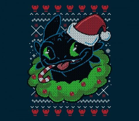 About This Ugly Sweater                                                  50% cotton/poly blend sweatshirt                         Unisex Sizes                          @teefury
