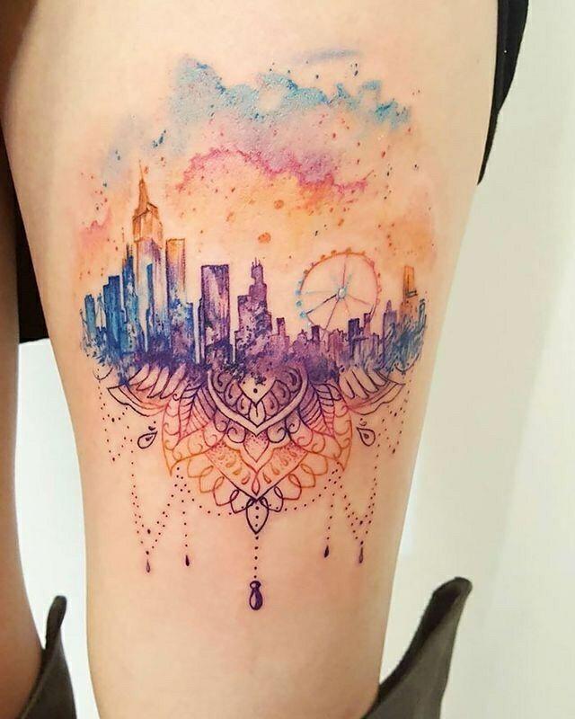 Tatuagens coloridas femininas - Crescendo aos Poucos | Tatuagens, Tatuagem, Tatuagem colorida