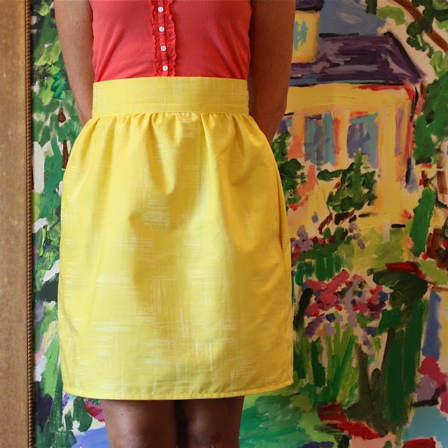 skirt with gathered waist