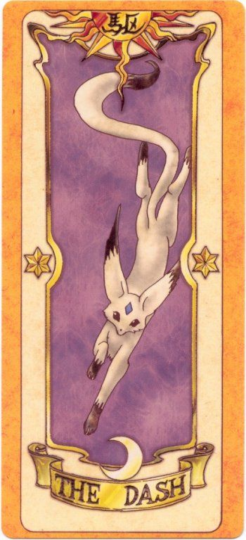 Dash's visible form is a small blue, fox-like creature with long rabbit ears and a long slender tail.