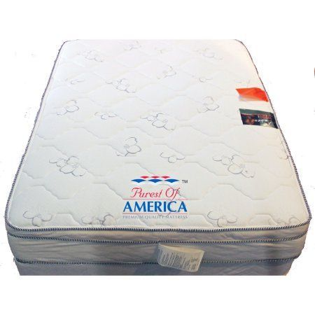 Purest of America Amber 11 inch Short Queen Memory Foam Mattress, White #FoamMattress