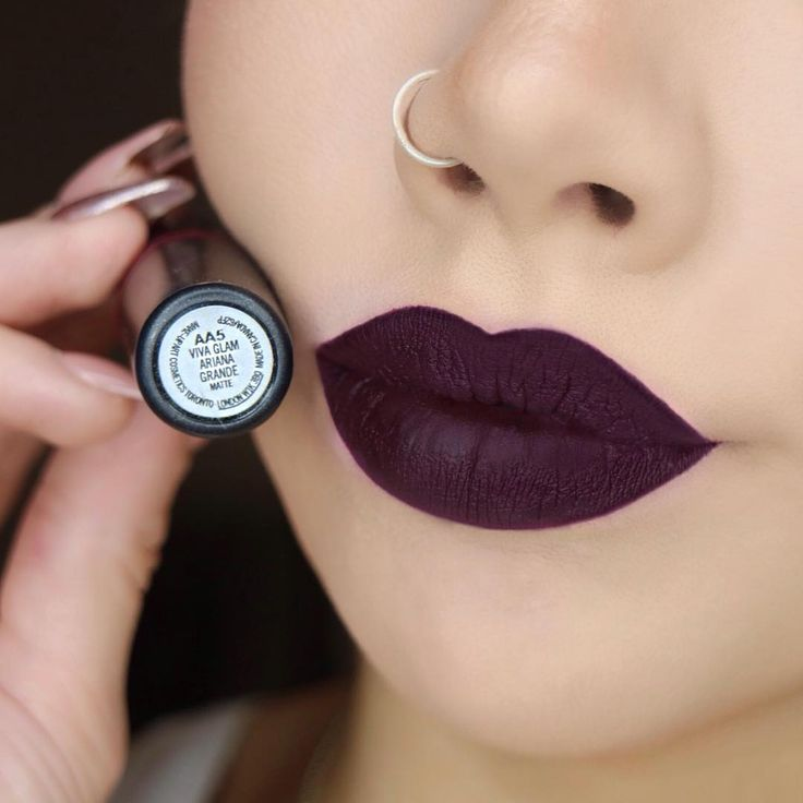 """Swatch of the Ariana Grande Viva Glam lipstick from ..."