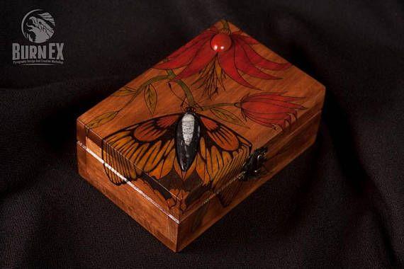 beautiful box butterfly box jewelry box engraved wooden