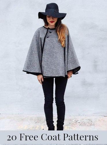 20 Free Coat Patterns