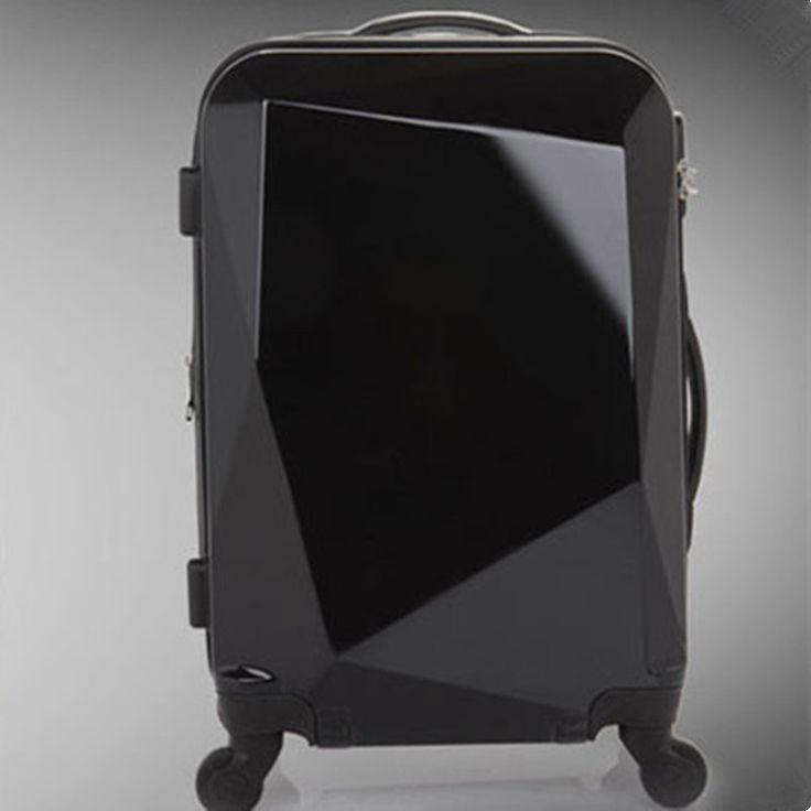 KUNDUI Women Suitcase valiz bag men bags,Diamond cutting trolley case,new style,Swivel travel luggage mute,Polychromatic 20 24