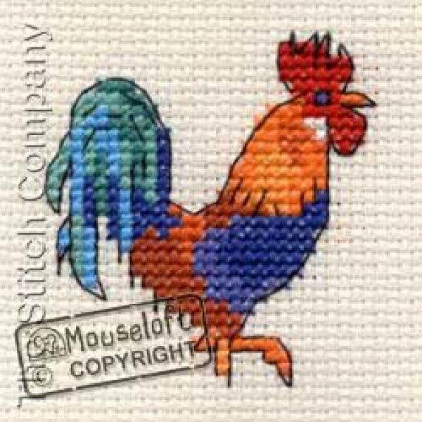 Borduurpakket Cockerel : Mouseloft - De Spinnerij borduurpakketten