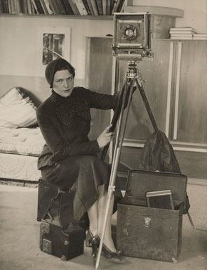 Margaret Bourke-White ,self portrait, 1931. (born Margaret White , June 14, 1904 The Bronx, – died August 27, 1971 (aged 67) Stamford, Connecticut ,of Parkinson's disease) was an American photographer and documentary photographer. She is best known as the first foreign photographer permitted to take pictures of Soviet industry, the first American female war photojournalist, and the first female photographer for Henry Luce's Life magazine, where her photograph appeared on the first cover.