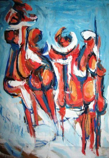 ibrahim abu rub.  Arte Palestina En la colección del Museo de Arte Farhat | Palestina Arte الفن الفلسطيني | Farhat Art Museum Collection مجموعة متحف فرحات