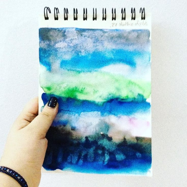 #365dayswatercolorproject Day 27 - Northern Lights - #ssdwatercolorproject #ssdwatercolorproject2017 #art #artistic #art #watercolorsketch #watercolor #design #designer #artislife #lovemyjob #lovmyjob #lovemywork #thehappynow #thatsdarling #pursuepretty #graphicdesign #handpainted #handdrawn #graphicdesigner #graphicdesigncentral Northern lights inspired texture paper / I have a real passion to make watercolor textures and patterns