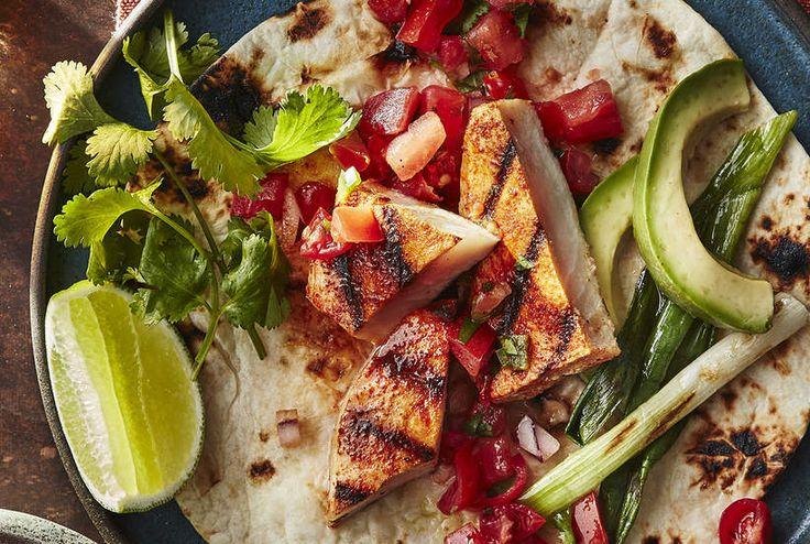 Grilled california fish tacos recipe taco grill grill for Fish grill pico